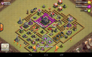 War Clash of Clans Base Level 6