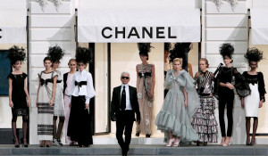 Karl Lagerfeld during the finale of the Chanel ready-to-wear ...
