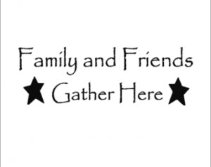 Primitive Friends and Family Large Wall Decal with Stars ...