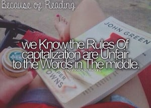 Because of Reading More
