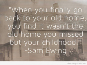 Back to old home quote