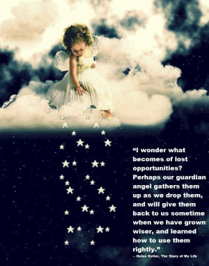 Wonder What Becomes Of Lost Opportunities… ~ Angel Quotes
