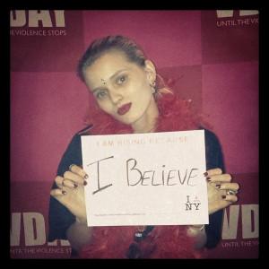 Abbey Lee supports Eve Ensler's V-Day 1 Billion Rising @ Hammerstein ...