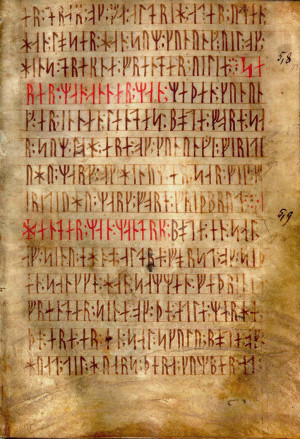 The Codex Runicus, a law code written in runes (c. 1300 CE)