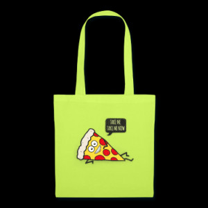 Funny Cartoon Pizza - Statement / Funny / Quote Bags & backpacks