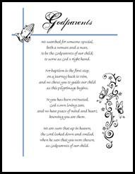 Godparent Certificate poem