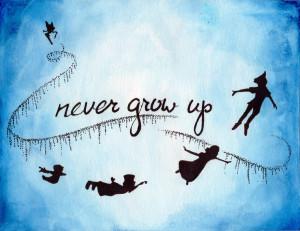 Peter Pan Quotes Tumblr Peter pan- never grow up by
