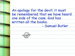 Apology For The Devil Graphic