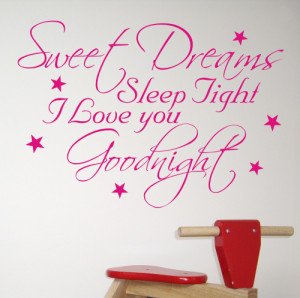 Sweet Dreams - Wall Quote Sticker Design - WA207X