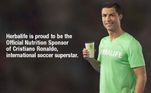 Cristiano Ronaldo remplace Lionel Messi comme Ambassadeur Herbalife !