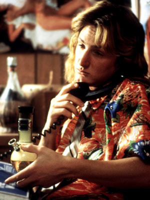 Spicoli dreaming he won a surfing competition]