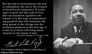 Which of these quotes from Martin Luther King