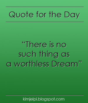 Quote for the Day] Dream High Quote 3