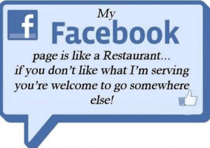 My Facebook Is Life A Restaurant