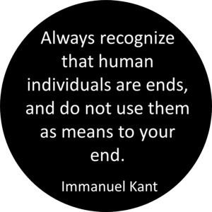 Immanuel Kant's famous phrase that is indeed in my opinion absolute. A ...