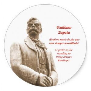 Emiliano Zapata quote sticker