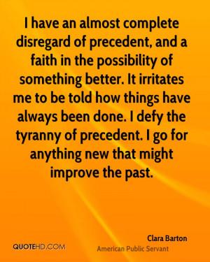 Clara Barton Faith Quotes