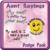 Aunt Sayings Embroidery Design by Starbird Stock Designs ...