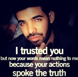 Lost trust.
