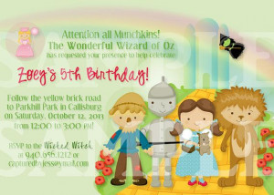 Wizard of Oz Birthday Invitations by CapturedbyJessPrints on Etsy, $10 ...