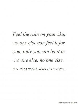 Natasha Bedingfield, Unwritten.LISTEN TO AUDIO.About the song: Natasha ...