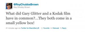 Gary Glitter twitter jokes in full