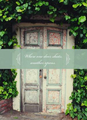 When one door shuts