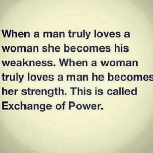 ... is called exchange of power. Love Quotes | Life Quotes | Plus Refresh