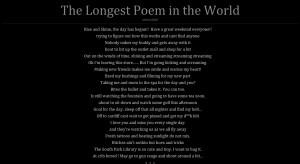 Longest Poem in the World