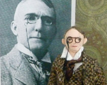 James Whitcomb Riley Doll Miniature Hoosier Poet ...