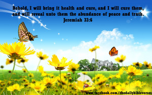 Behold, I will bring it health and cure, and I will cure them, and ...
