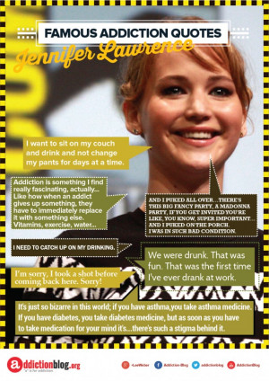 Jennifer Lawrence quotes on drugs and alcohol (INFOGRAPHIC)