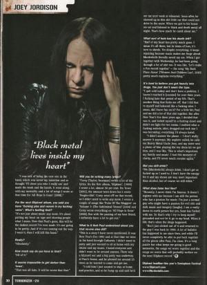 Joey Jordison Noxiousmadness