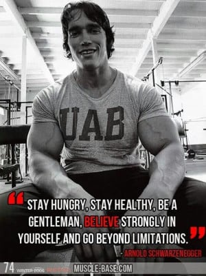 Motivational Arnold Schwarzenegger Quote on Bodybuilding Motivation ...