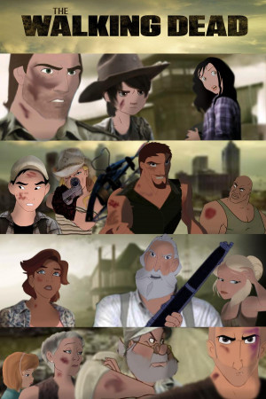 Art Humor Disney The Walking Dead Animated about 2 years ago by Joey ...