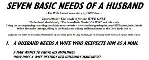 Bad Husband Quotes Seven basic needs of a husband