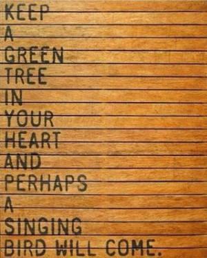 Singing bird...