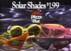 11. The Back to the Future II promotional sunglasses sold at Pizza Hut ...