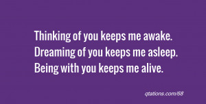 Dreaming Of You Quotes Dreaming of you