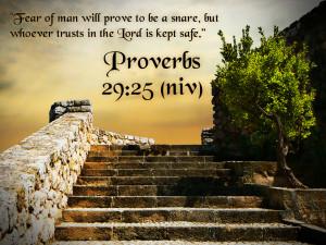 Proverbs 29:25 Bible Verse HD Wallpaper fear no man but trust is GOD ...