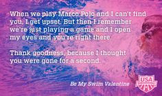 ... other than a swimmer? Happy Valentine's Day from USA Swimming