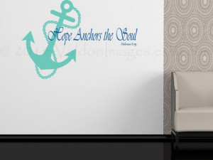 Anchor with quote wall sticker nautical decal wall by ValdonImages, $ ...