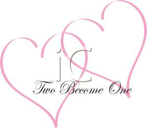 ... Clipart Image: Two Pink Valentine Hearts with