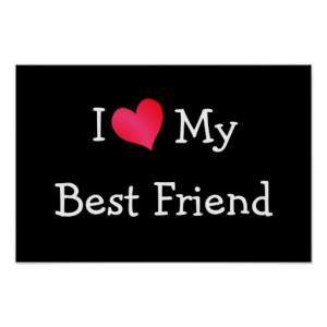 Love My Best Friend Print