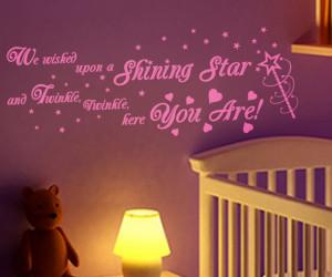 ... stock description shining star quote twinkle twinkle little star wall