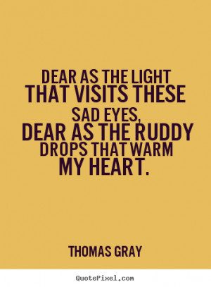 picture quotes - Dear as the light that visits these sad eyes, dear ...