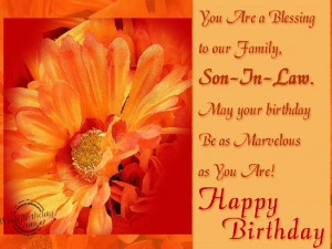 happy birthday dear son in law love my sister in laws wish i