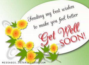 the hope that you bloom into good health soon get well soon quote