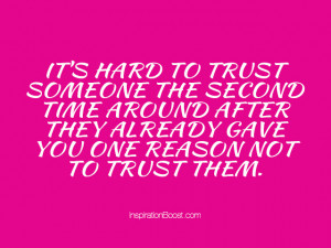 Learning to trust again quotes
