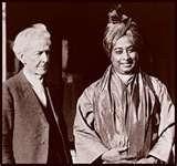 Paramahansa Yogananda and Luther Burbank in 1924
